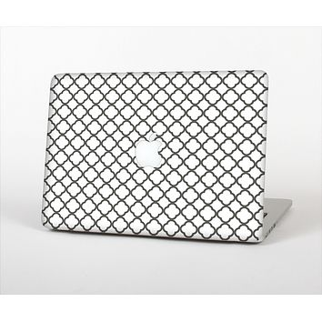 The Dark Gray & White Seamless Morocan Pattern Skin Set for the Apple MacBook Air 13""