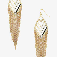 CHEVRON CHAIN FRINGE EARRINGS from EXPRESS
