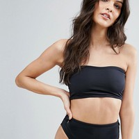 ASOS Mix and Match Clean Bandeau Bikini Top with Eyelets at asos.com