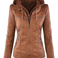 Cupshe New York Minute PU Jacket