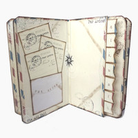 Air Mail Travel Journal - Par Avion Diary - Vinatge Style Travel Scrapbook