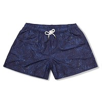 The Deep Space Nines Swim Trunks in Black by Kennedy