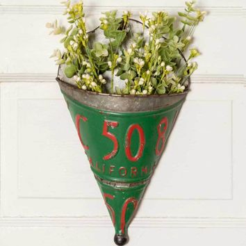 License Plate Wall Planter (Set of 2)