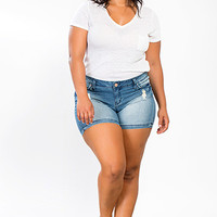 Junior Plus Size WannaBettaButt Shorts