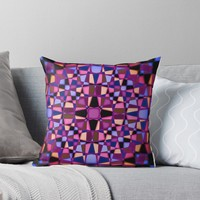 'Kaleidoscope star pattern' Throw Pillow by steveball