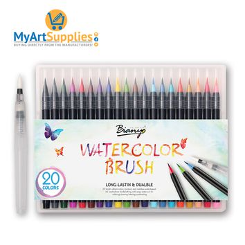 Watercolor Markers Brush Set of 20