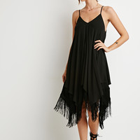 Fringe Trapeze Cami Dress