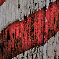 Abstract Fine Art Photography Red White Stripes, Barber's Pole - 8x12