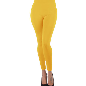 Women's Soho Gold Poly Stretch Leggings - Kmart