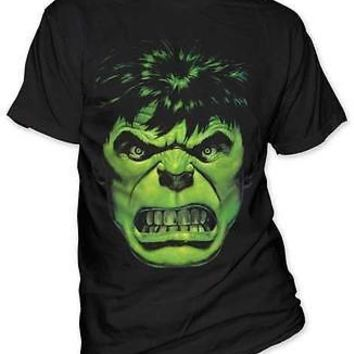 Hulk Angry Green Face Avengers Marvel Comics Licensed Tee Adult T-Shirt S-2XL