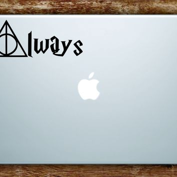 Harry Potter Deathly Hollows Always Decal Sticker Vinyl Art Quote Macbook Apple Decor Movies