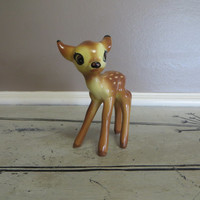 Ceramic Bambi Deer Fawn Vintage Fawns Doe Spotted Deer Miniature Deer Woodland Decor Rustic  Small Deer Forest Decor