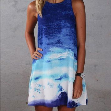 HOT GRADIENT VEST DRESS