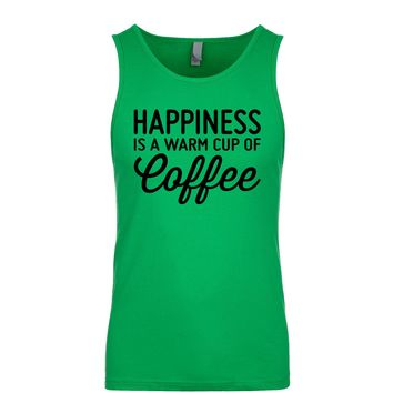 Happiness Is A Warm Cup Of Coffee Men's Tank
