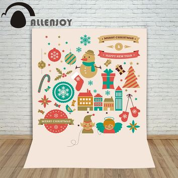 Allenjoy photography backdrops retro graphic elements style kids baby shower Digital Printing Customize christmas backgrounds