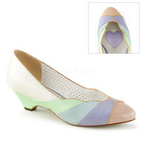 Lulu Multi Color Kitten Wedge Pump