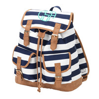 Navy Stripe Backpack