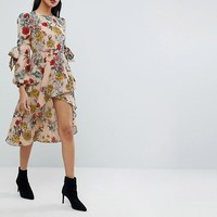PrettyLittleThing Floral Midi Dress at asos.com
