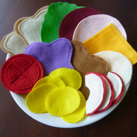 Deluxe Build-a-Sandwich Lunch Set - Felt Food
