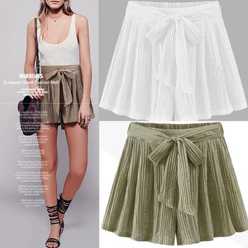 Summer Ladies Casual Pants Shorts [6351441220]