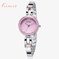 2017 KIMIO women brand luxury quartz-watch women ladies Analog bracelet watch women montre femme de marque clock with Gift Box