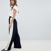 Glamorous Petite smart joggers with satin side stripe at asos.com