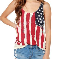 USA Flag Vintage Tank Top With a Twist.