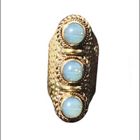 Tibetan Opal Statement Ring