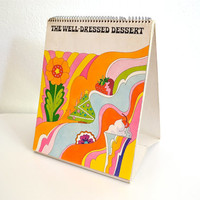 1969 Pyschedelic Illustrated Cookbook - The Well-Dressed Dessert - Cool Whip
