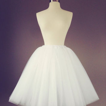 White tulle skirt - Adult Bachelorette Tutu- white tutu,- adult tutu, tutu skirt,  custom colors- fully sewn, any length