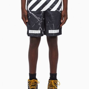 Mesh short from the S/S2016 Off-White c/o Virgil Abloh collection in black marble