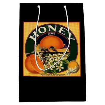 Vintage honey company advertisement gift bag
