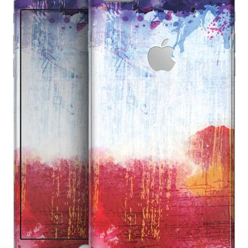 Red White & Blue Paint Splotches - Skin-kit for the iPhone 8 or 8 Plus