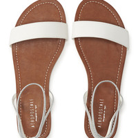 Banded Faux Leather Sandal