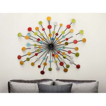 Decmode Metal Wall Decor, Multi Color - Walmart.com