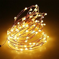 Magicnight 20ft 60 Warm White Mini Micro LED Starry Lights Submersible Fairy Lights Copper LED Lights Strings AA Battery Powered Operated Ultra Thin String Wire Set of 1