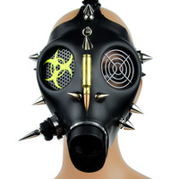 Bio Hazard Cyber Punk Bullet Spike Full Gas Mask