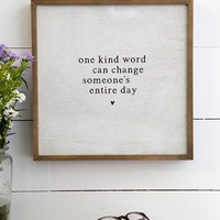 One Kind Word Bungalow Art