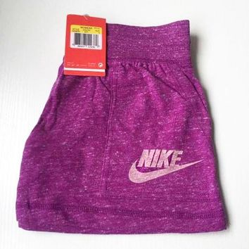 "NIKE "" Like Fashion Print Exercise Fitness Gym Yoga Running Shorts Rose red"