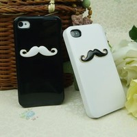 Two pieces 3D Chaplin mustache Case Cover Shell