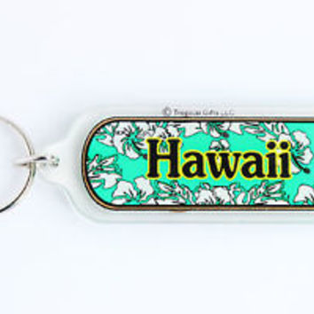 HOT VINTAGE HAWAII/ FLORAL KEYCHAIN, COLLECTABLE ITEM, 60s - 70s, USED