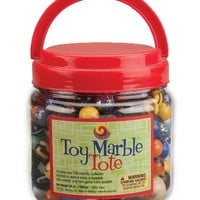 MegaFun USA Toy Marble Tote with Mega Marbles, Large
