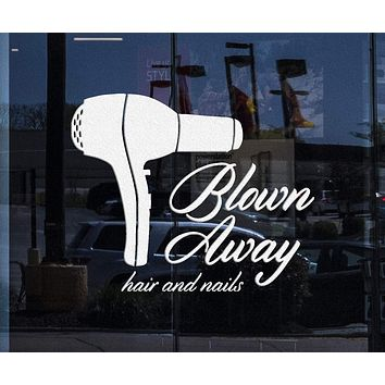 Window and Wall Sticker Vinyl Decal Barber Tools Beauty Salon Stylist Hair Nails Unique Gift (ig2035w)