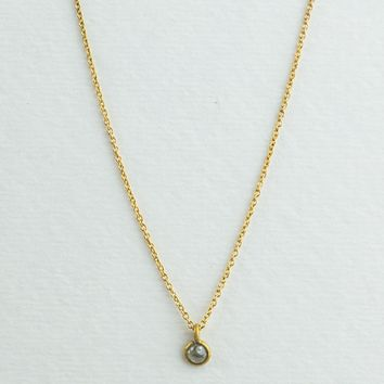Tiny Rough Diamond Necklace