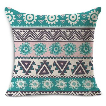 Creative geometric Nordic couch cushion home decorative pillow fine linen pillowcase Mediterranean seat back cushions 45x45cm R4