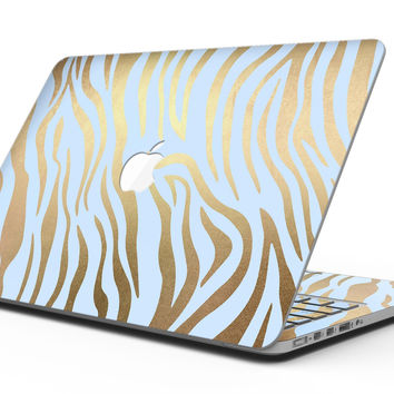 Gold Flaked Animal blue Zebra 2 - MacBook Pro with Retina Display Full-Coverage Skin Kit