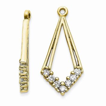 14k Yellow or White Gold (H/I1 Quality) Diamond Earrings Jackets