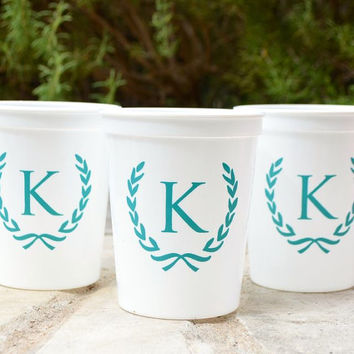 50 Personalized Initial Stadium Cups