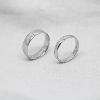2pcs-Free Engraving,silver Ring, promise ring,couple Rings, Lovers rings