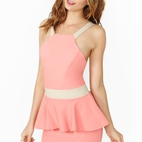 Nasty Gal Sugar Rush Peplum Dress